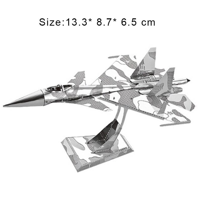 3D ocelová skládačka stíhačky Suchoj Su-34