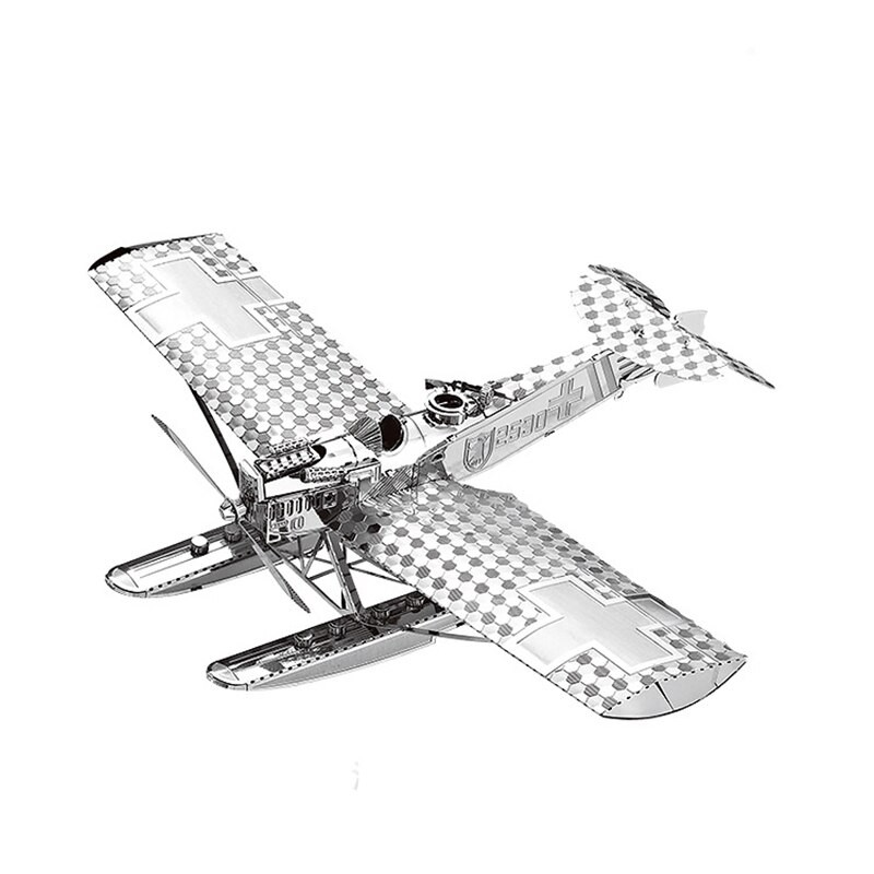 3D ocelová skládačka letadla Hansa Brandenburg W29