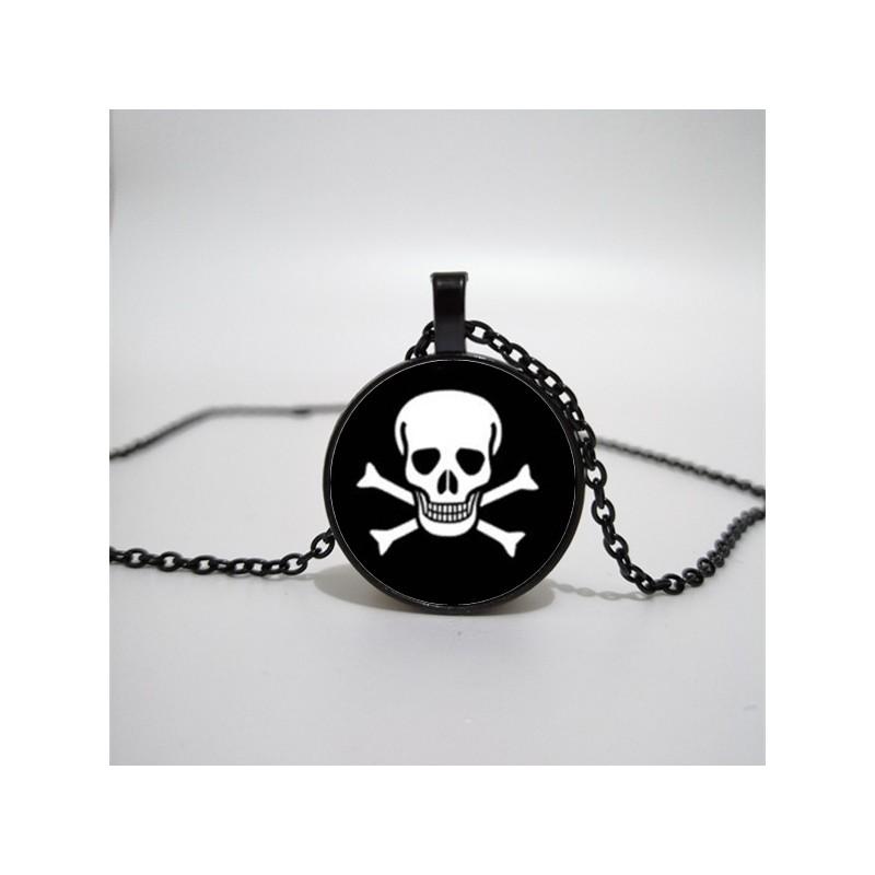 One Piece lebka - náhrdelník