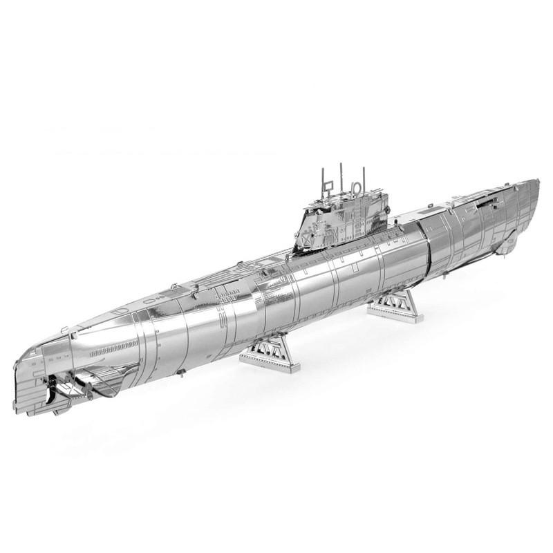 Německá ponorka typ XXI - 3D ocelová skládačka