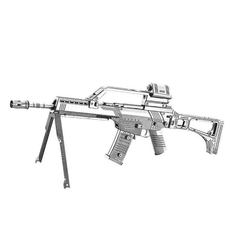 Samopal Kalašnikov AK-74 - 3D ocelová skládačka