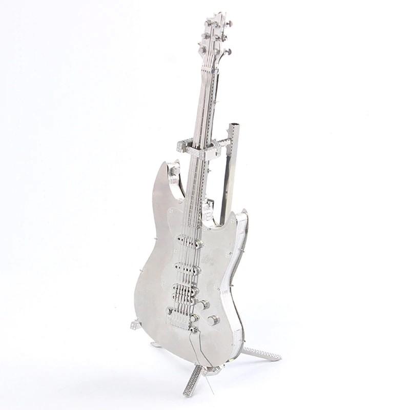 3D ocelová skládačka kytara