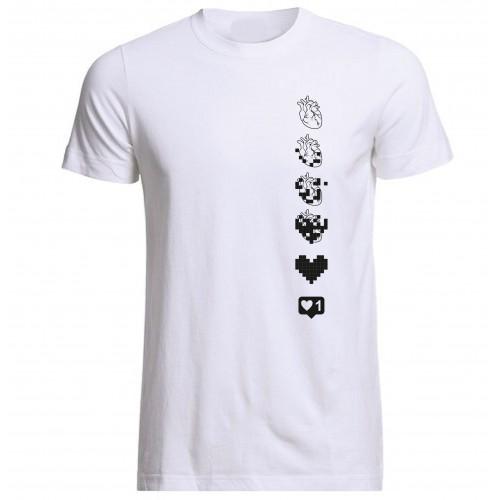 Digitální srdce - Geek tričko
