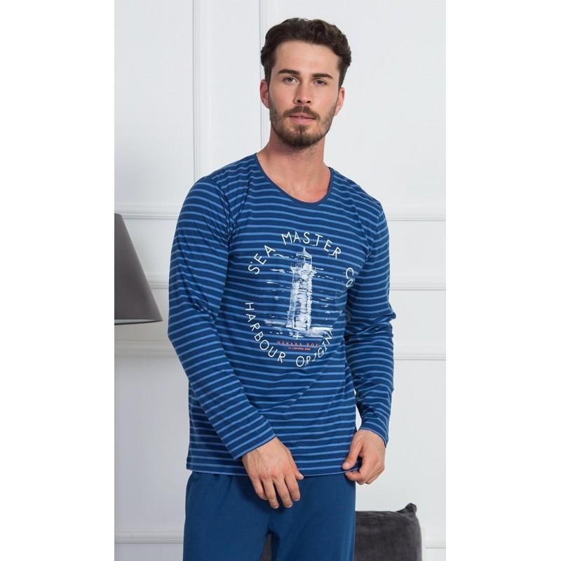 Pánské pyžamo dlouhé Maják