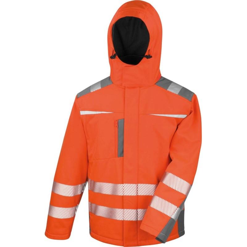 Softshellová bezpečnostní bunda R331X - Oranžová