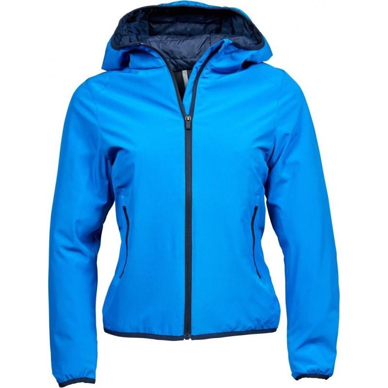 Dámská dvouvrstvá funkční bunda s kapucí Competition modrá