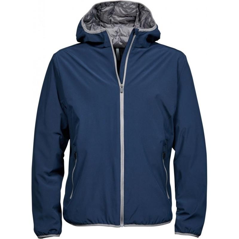 Pánská dvouvrstvá funkční bunda s kapucí Competition tmavě modrá