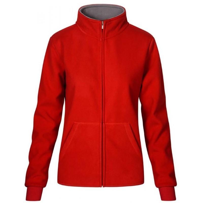 Dámská dvojitá fleece bunda P7985 - Červená