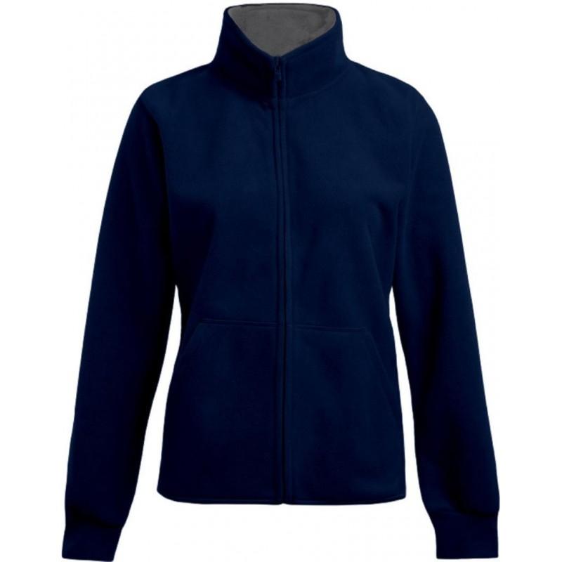 Dámská dvojitá fleece bunda P7985 - Námořní modř