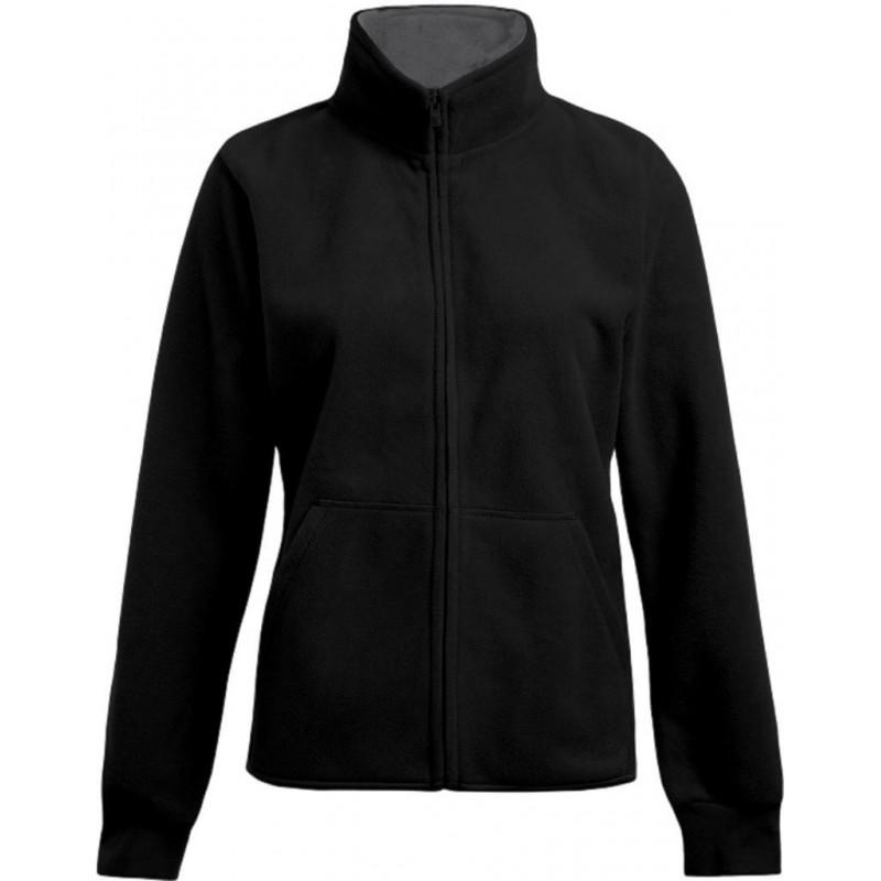 Dámská dvojitá fleece bunda P7985 - Černá