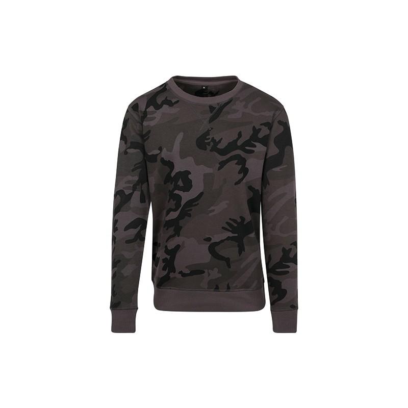 Camo Crewneck army tričko dlouhé pánské