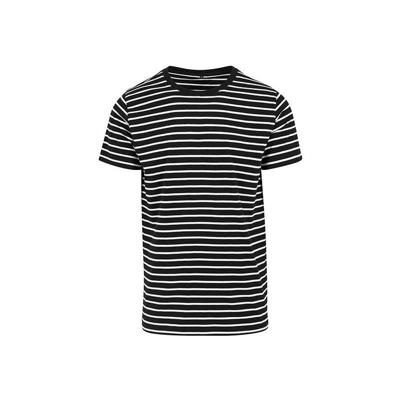 Pruhované tričko bílo černé Z73