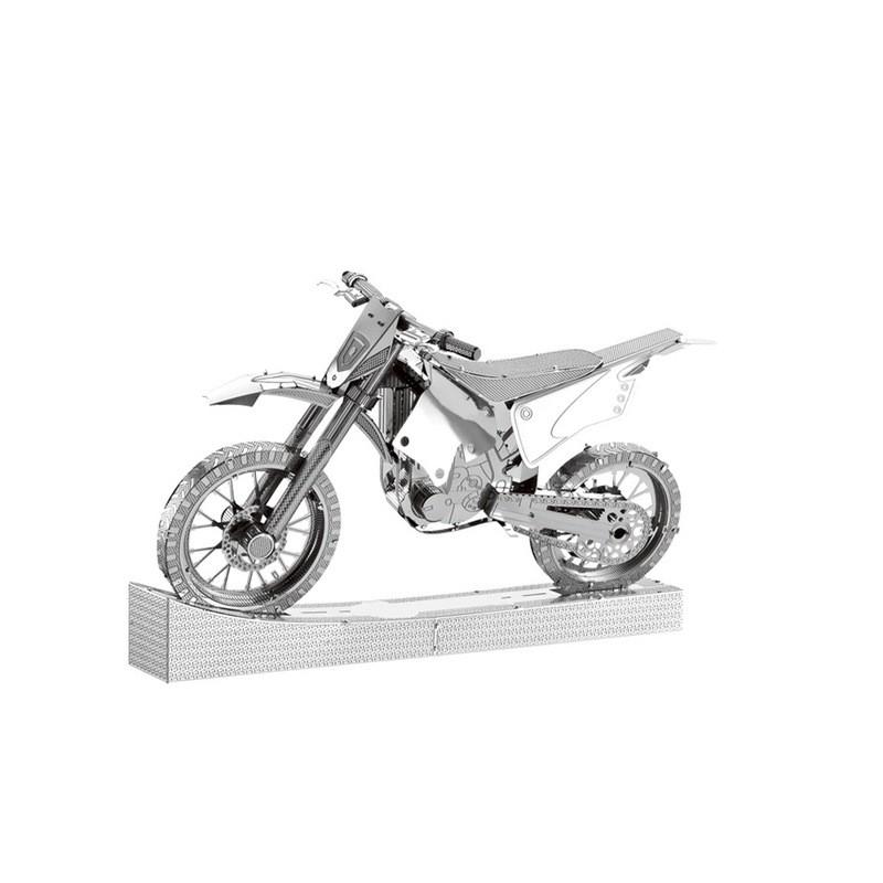 3D ocelová skládačka Motorka