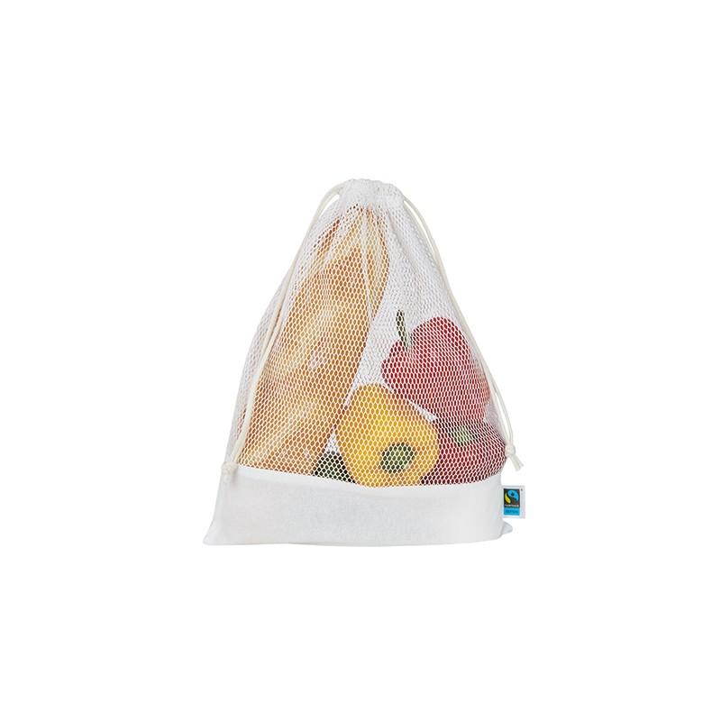 Síťovaná taška na zeleninu - Bílá