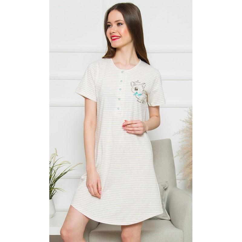 Dámská noční košile s krátkým rukávem Karolína