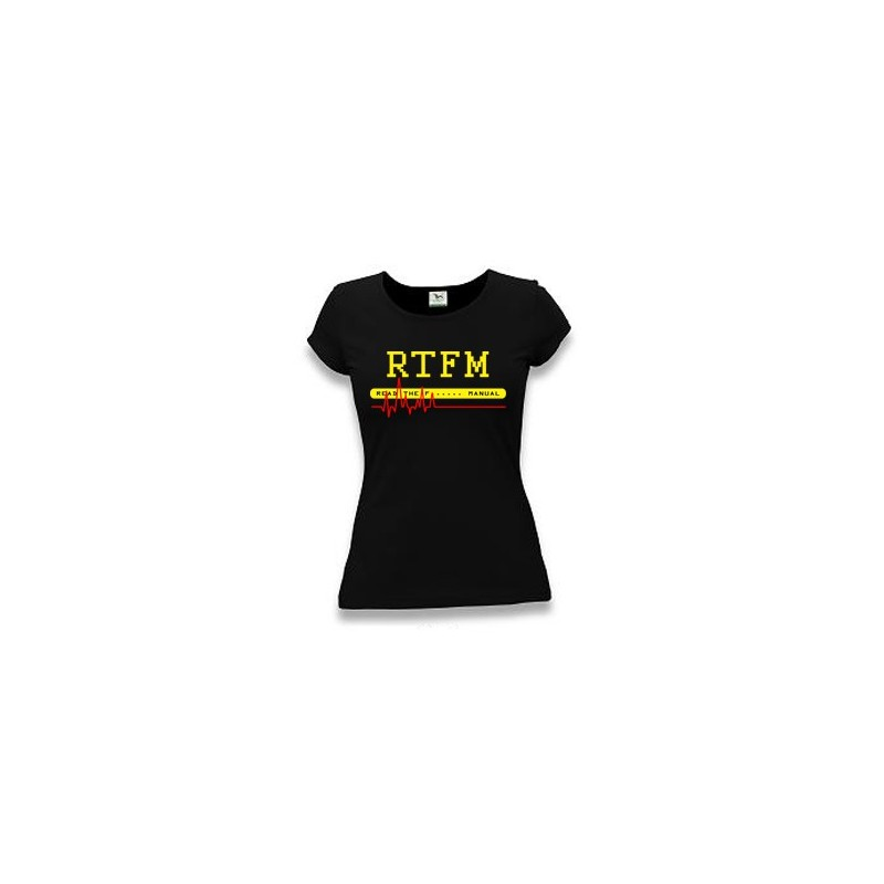 Linux tričko RTFM originál - dámské