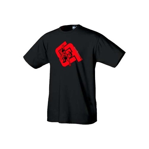 Warez tričko Vlk logo červené