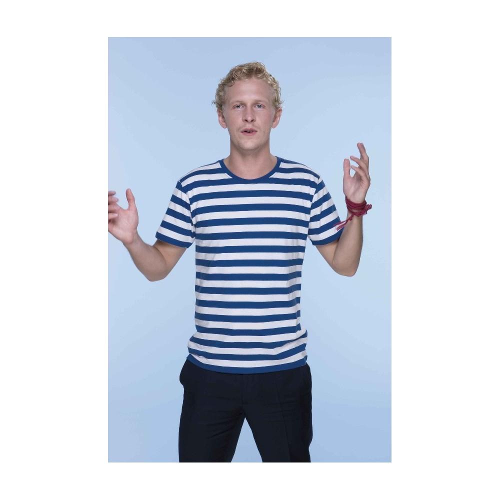 c47b545b5592 Pruhované tričko Bílo-modré - pánské ...
