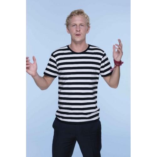Pruhované tričko Bílo-černé - pánské
