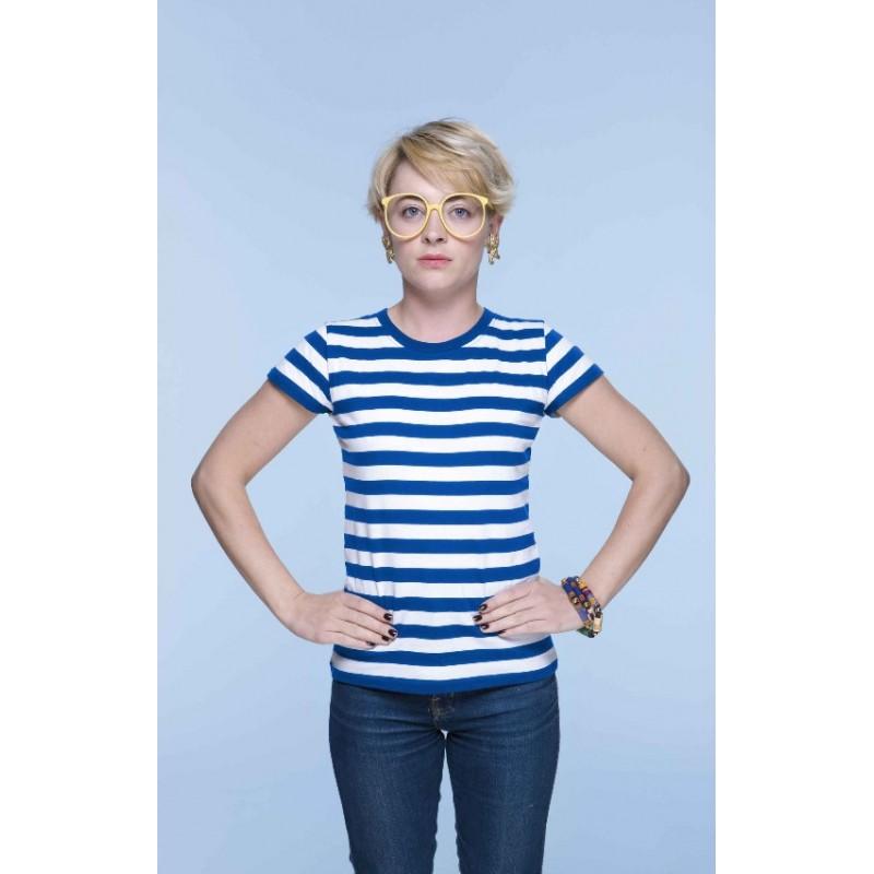 Pruhované tričko Bílo-modré - dámské