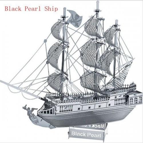 3D ocelová skládačka loď Černá perla