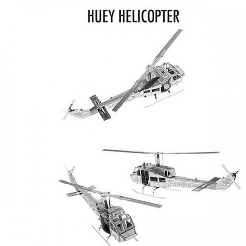3D ocelová skládačka vrtulník Huey