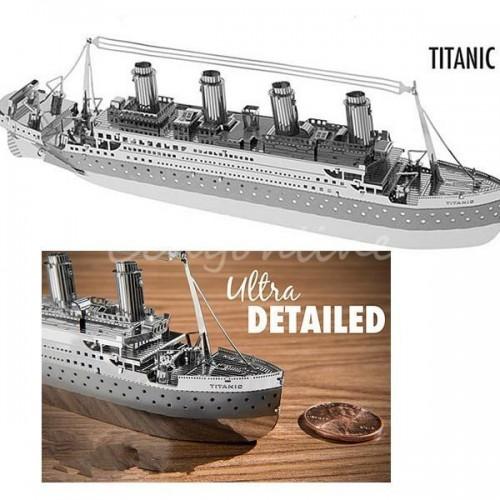 3D ocelová skládačka Titanic