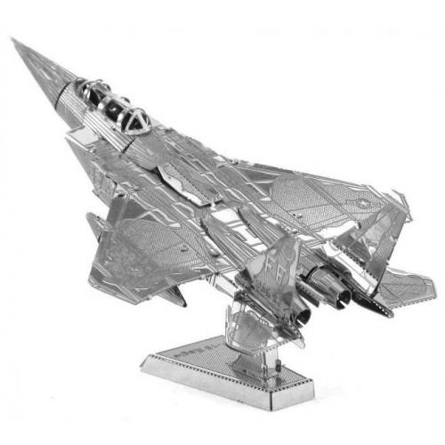 3D ocelová skládačka stíhačka F15