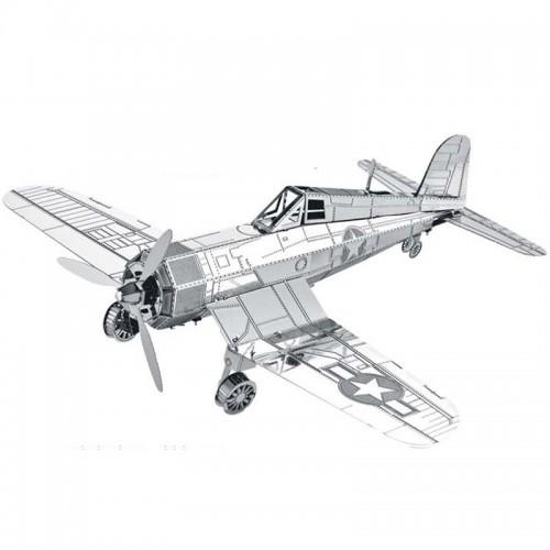 3D ocelová skládačka letadlo Vought F4U Corsair
