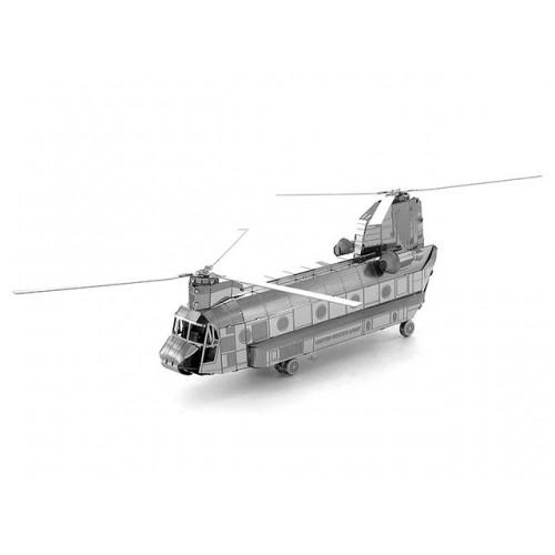 3D ocelová skládačka helikoptéry Chinook