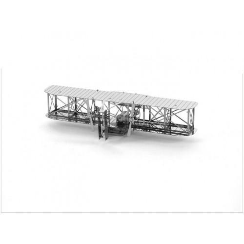 3D ocelová skládačka Letadlo bratří Wrightů