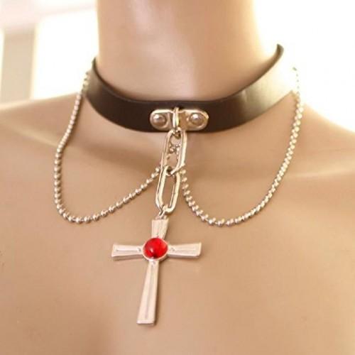 Anime cosplay Rosario Vampire náhrdelník