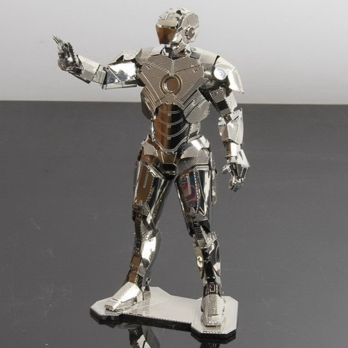 3D ocelová skládačka retro TAXI