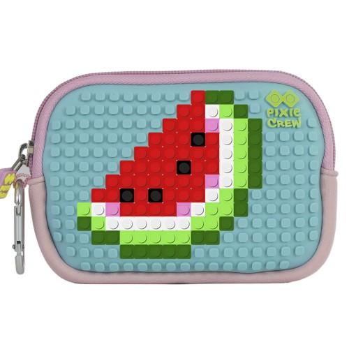 Kreativní pixelové pouzdro PIXIE CREW meloun modrá