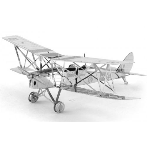 3D ocelová skládačka Letadlo de Havilland Tiger Moth