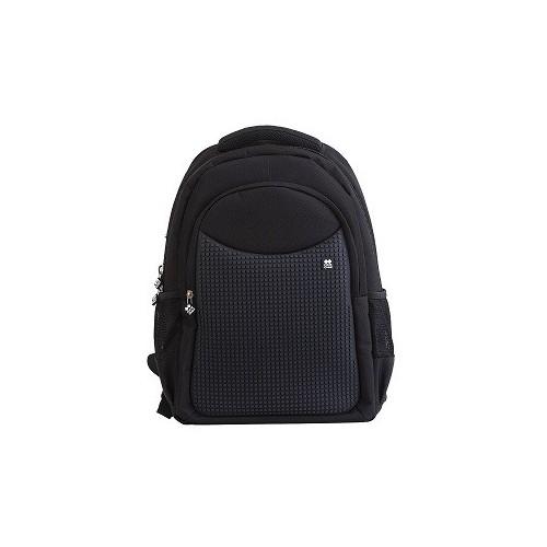 Školní kreativní pixelový batoh černý