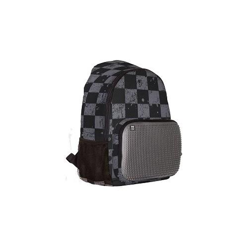 Volnočasový kreativní pixelový batoh šedá kostka/šedá