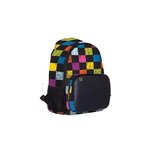 Volnočasový kreativní pixelový batoh multibarevná kostka/černá