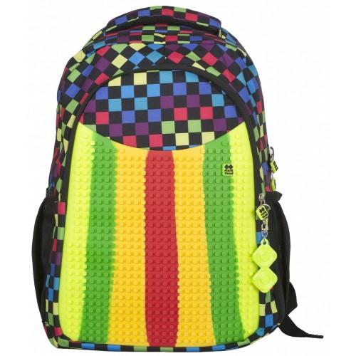 Školní kreativní pixelový batoh multibarevný