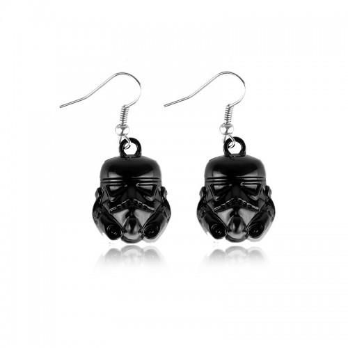 Star Wars StormTrooper náušnice - černé
