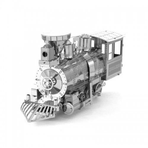 3D ocelová skládačka Parní lokomotiva