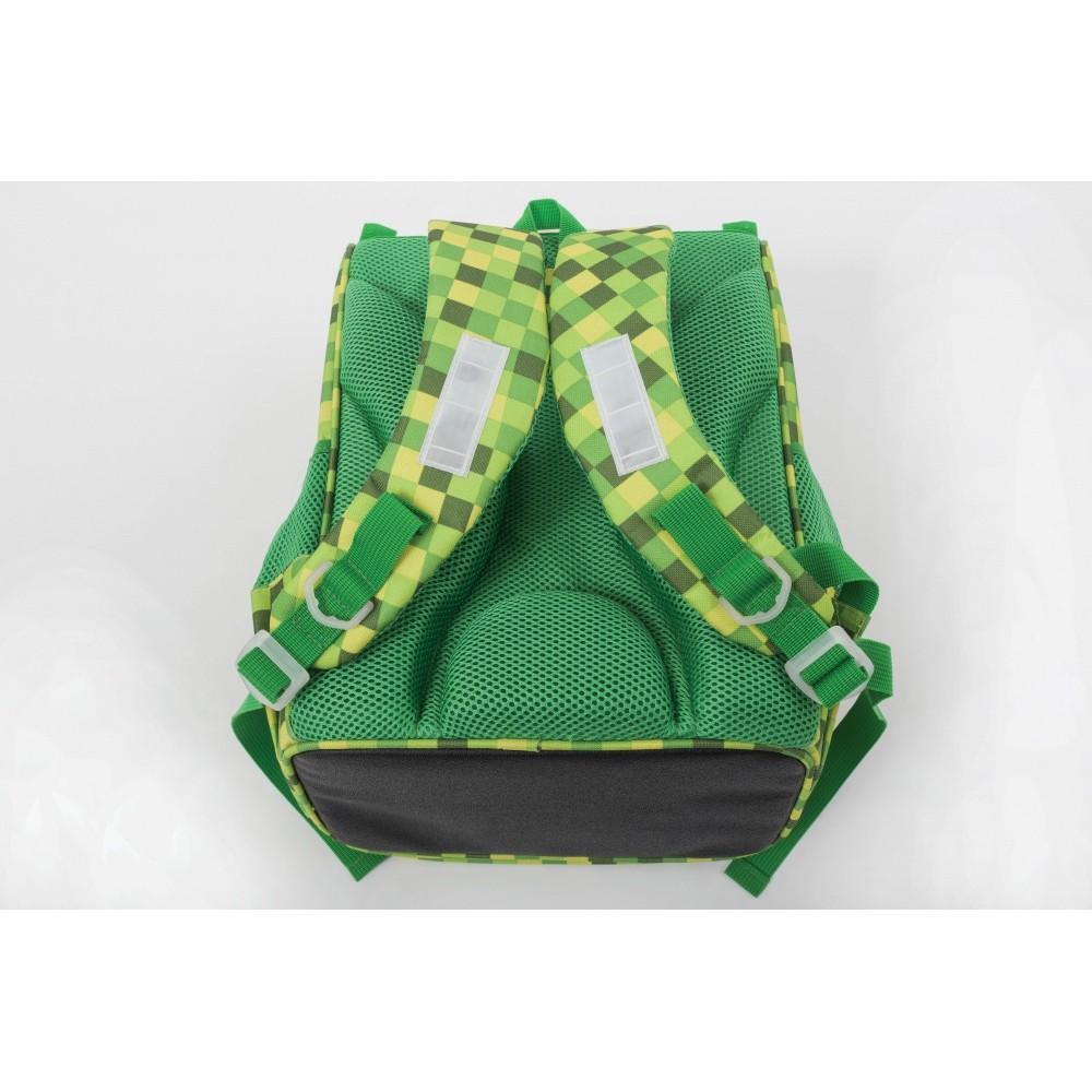 Školní aktovka PXB-22-D07 zelená s kostkami f8a183dd67