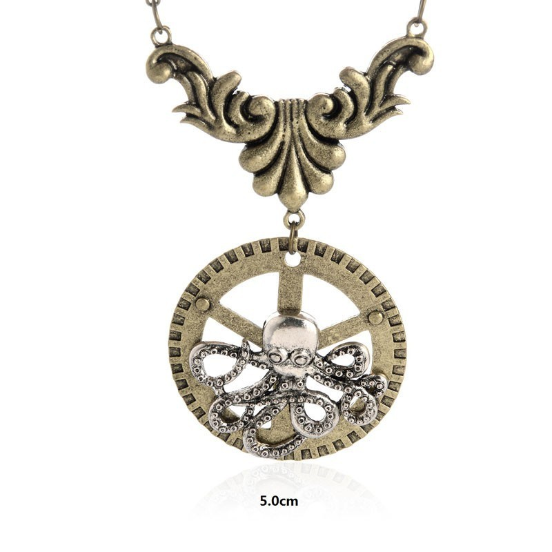 SteamPunk náhrdelník Srdce 2