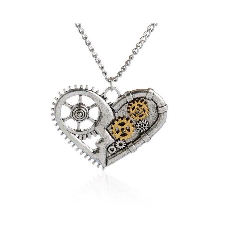 SteamPunk náhrdelník malé Srdce 5918aeca6cc