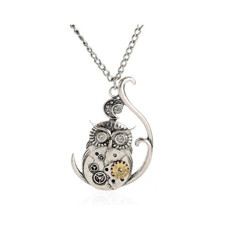 SteamPunk náhrdelník malé Srdce