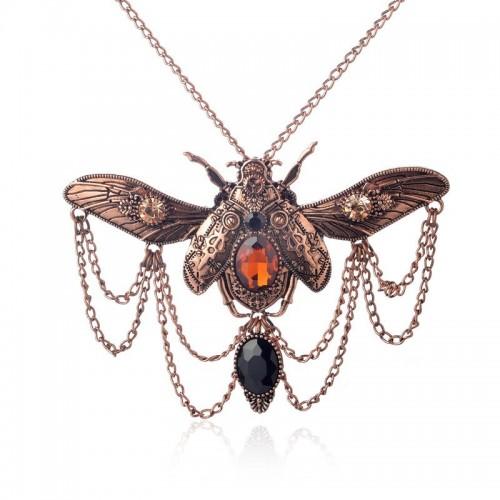 SteamPunk náhrdelník Můra