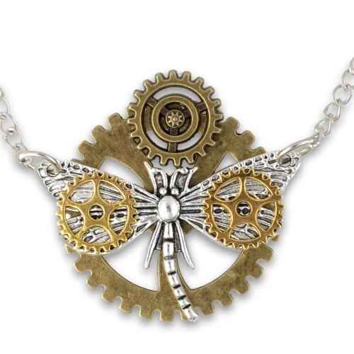 SteamPunk náhrdelník Dragonfly