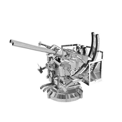 3D ocelová skládačka Protiletadlový kanón