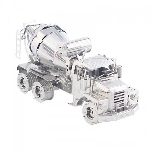 3D ocelová skládačka stavební auto míchačka