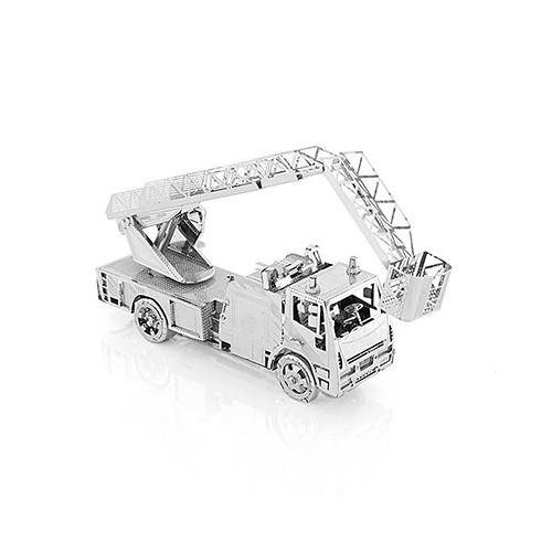 3D ocelová skládačka hasičské auto s žebříkem